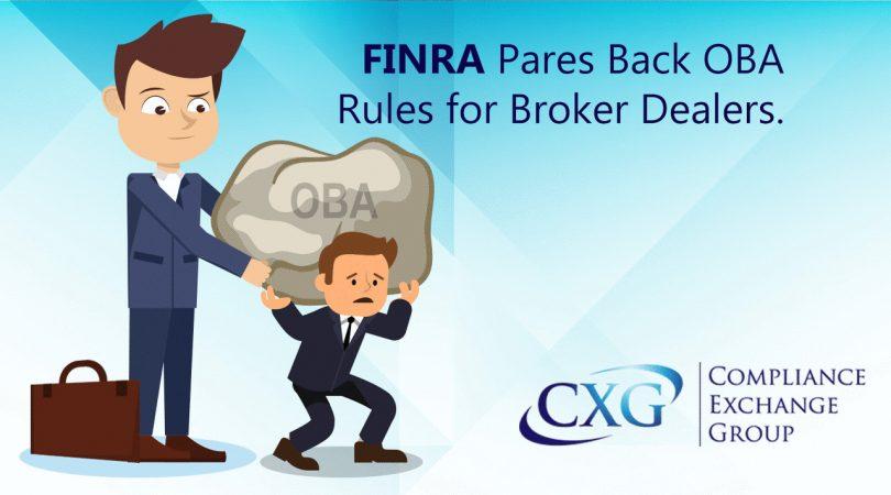FINRA Pares Back OBA for BDs