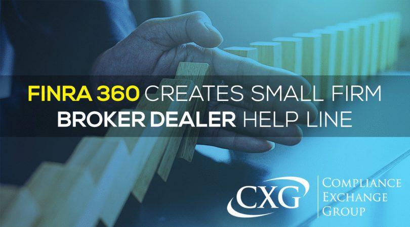 FINRA's New Small Firm Broker-Dealer Helpline